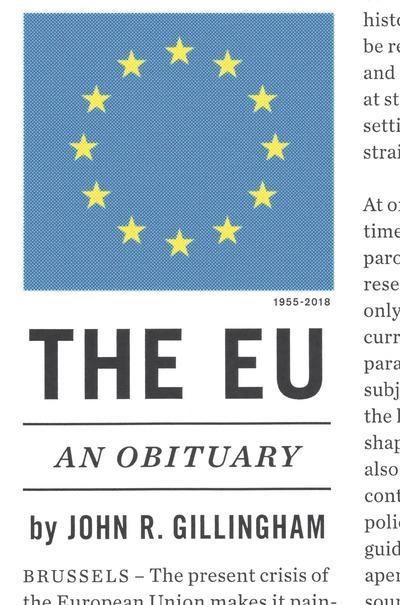 "The EU ""An Obituary"""