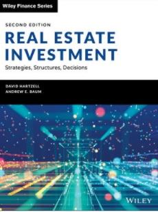 "Real Estate Investment and Finance ""Strategies, Structures, Decisions"""